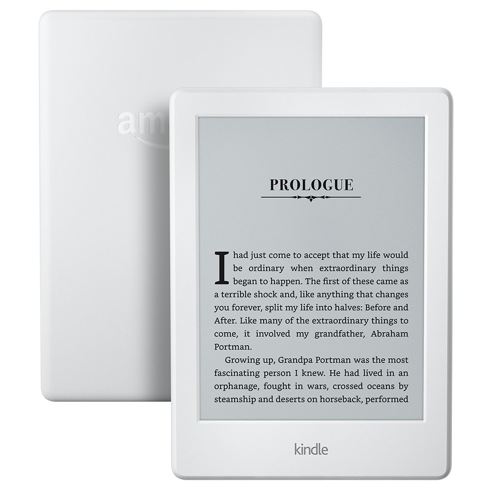 image is of a refurbished Kindle Paperwhite with a prologue up on the screen.